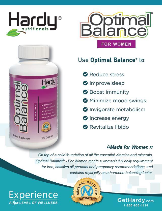 Optimal Balance For Women Brochure